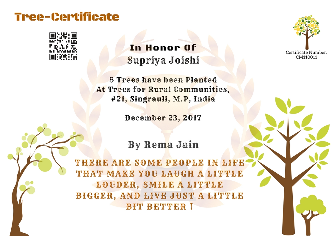 Tree Gift Certificate National